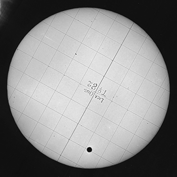 Lick Photographic Plate of 1882 Transit of Venus