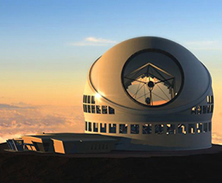 Thirty Meter Telescope drawing