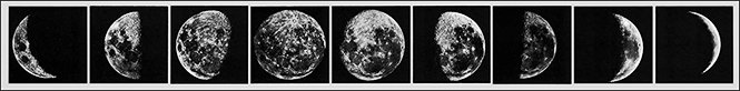 series of lunar phase photos